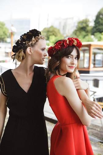 Couronnes de fleurs Athena et Rio - Les Couronnes de Victoire