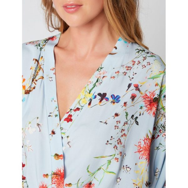 Peignoir kimono imprimé SOMERSET 160 - Lingerie Le Chat - Crédit : lingerielechat.com